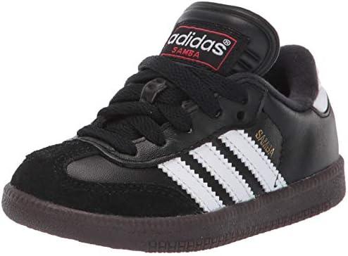 adidas Samba Classic Soccer Shoe, BlackWhite, 1 M US Little