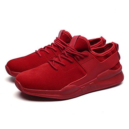 Capo Spettacolo Moda Uomo Elastico Confortevole Sneaker Sportivo Sportivo Scarpe Da Passeggio Red-1