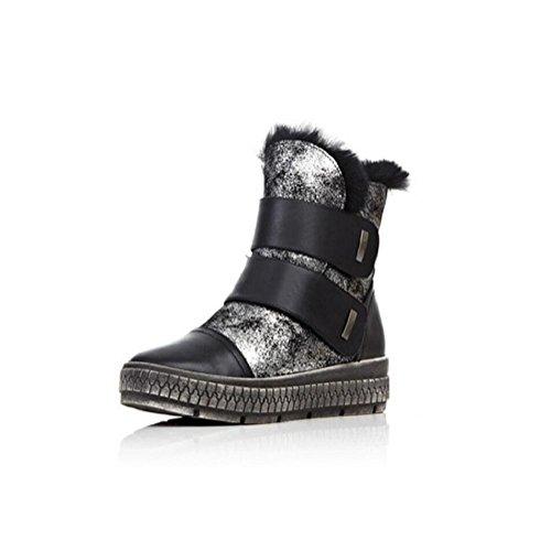 corto Bootie e in Velcro pelle velluto neve stabile femmina donna cotone stivali tubo 35 confortevole Piattaforma scarpe 34 x7w0gqzSn