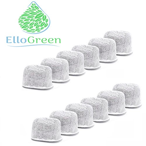 ElloGreen New Elite Replacement Finer Charcoal Water Filters for KUERIG Coffee Machines - Premium Quality Charcoal - Advanced Purifying and Improved Taste (60 Pack)