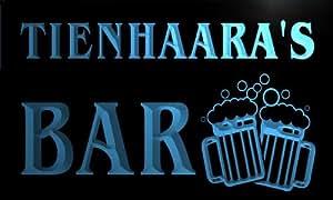 w148133-b TIENHAARA Name Home Bar Pub Beer Mugs Cheers Neon Light Sign