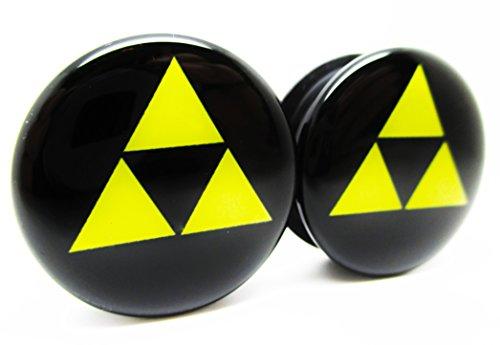 zelda-triforce-classic-ear-plugs-acrylic-screw-on-newpair