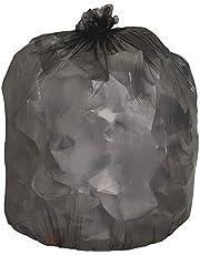 "Genuine Joe GJO70421 Low-Density Trash Can Liner, 45 gallon Capacity, 46"" Length x 40"" Width x 0.45 mil Thickness, Black (Case of 250)"