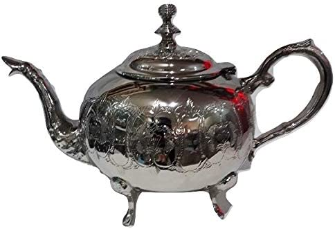 Silver Plated Moroccan Teapot Tea Serving Hand Made