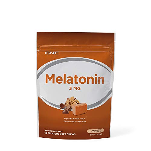 GNC Melatonin 3 MG Chocolate Chip Cookie Dough 60 Chews