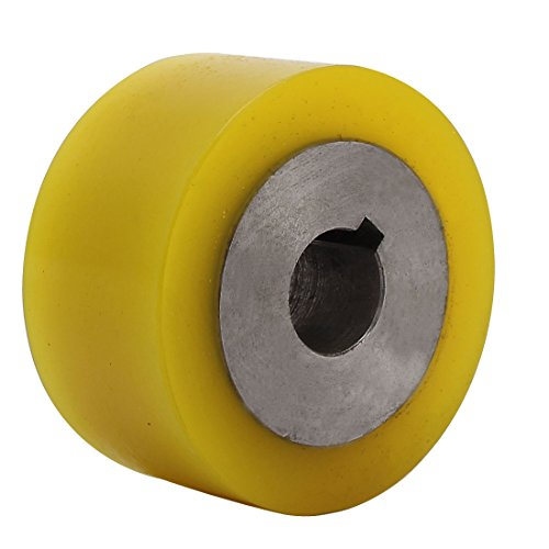 uxcell 80mm x 22mm x 40mm Polyurethane Pinch Roller Rolling Wheel for Woodworker by uxcell
