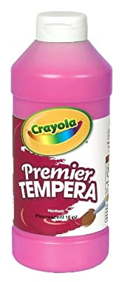 Crayola Fluorescent Paint 16-ounce Plastic Squeeze Bottle Shocking Pink by Crayola