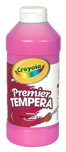 Crayola Fluorescent Paint 16-Ounce Plastic Squeeze Bottle, Shocking (Fluorescent Tempera 16 Oz Paint)
