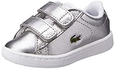 Lacoste Carnaby EVO 318 2 Baby Fashion Shoes, SLV/WHT, 10 US