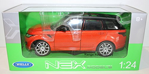 Land Rover Range Rover sport, metallic dark oRange/black, Model Car, Ready-made, Welly 1:24 (Range Rover Sport Diecast 1 24 compare prices)