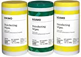 Amazon Brand - Solimo Disinfecting Wipes, Lemon
