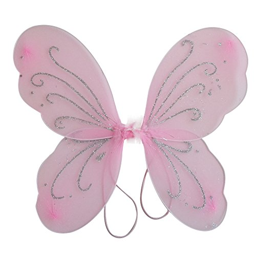 Toddler Fairy Wings (BOBORA Kid Girl Angel Fairy Wings Dress Party Costume Halloween Cosplay Costume)