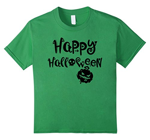 Kids Happy Halloween - Smiley Face Scary Pumpkin - Easy Costume 6 Grass