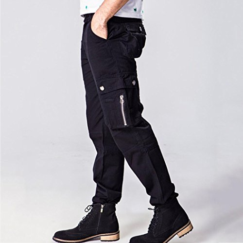 Allywit Men's Cotton Multi-Pockets Work Pants Tactical Outdoor Military Army Cargo Pants Big and Tall by Allywit (Image #4)