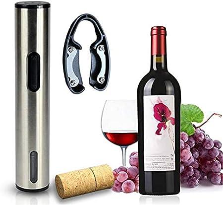 CHENSHJI Sacacorchos automático Abrelatas de Vino eléctrico Recargable Botella de Vino abridor de Vino aireador de Vino stoppers (Color : Silver, Size : 22x5cm)