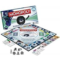 NHL MONOPOLY: Vancouver Canucks Collector's Edition