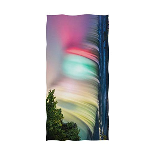 TEVRSTA Canada Colorful Niagara Falls Microfiber Pool Beach Towel Quick-Drying Bath Travel Towel Shower Sand Free Proof - Water Absorption Luxury Environmental Protection (51 X 31 inches)