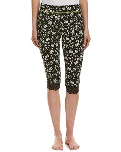 Juicy Couture Black Charms (Juicy Couture Black Label Women's Lace Trim Crop Pant, Fullerton Daisy, Large)