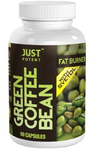 Juste vert puissant Coffee Bean Extrait avec 50% chlorogénique (CGA) de l'acide Svetol :: All-Natural Supplément Grade A + Fat Burner et Perte de poids :: 60 Capsules