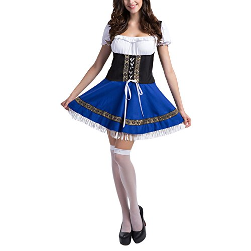 Women Oktoberfest Costume Beer Festival October Dirndl Fancy Dress,X-Large