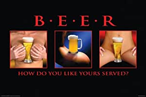 NMR 24759 Beer Served Decorative Poster