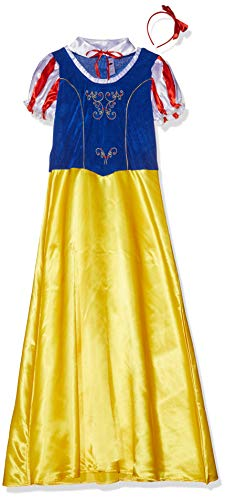 Smiffys Women's Princess Snow Costume, Dress, Collar and Headband, Wings and Wishes, Serious Fun, Size 14-16, 24643 -