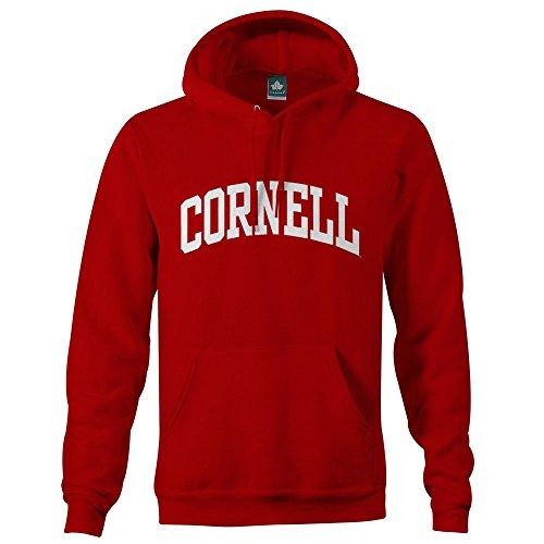 Ivysport Cornell University Hooded Sweatshirt Classic Logo, 90% Cotton 10% Polyester, Red, Hooded Sweatshirt, Medium (Jersey Screen Print Classic)