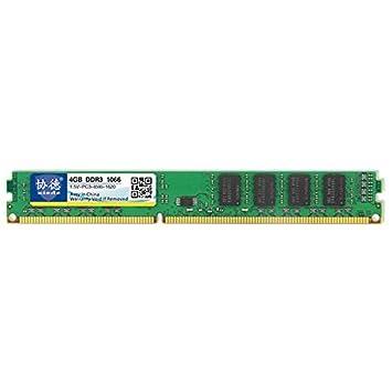 TIANTUOS Memoria de la computadora de Oro, X083 DDR3 1066MHz ...