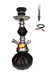 YYONLINE-Pipa de fumar pequeña ,cachimba pequeña de 1 manguera modelo 11113 color Negro