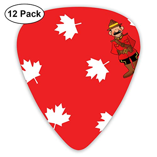 CMFYCS 12 Pack Guitar Picks Canadian Cartoon Think, Medium and Heavy,Unique Guitar Gift for Bass, Electric & Acoustic Guitars