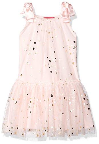 Kate Mack Little Girls' Fairy Dance Netting Dress W/Gold Foil Stars, Pink, 6 - Kate Mack Girls Clothing