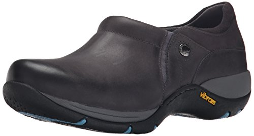 Dansko Women's Celeste Leather Flat, Grey Burnished Nubuck, 37 EU/6.5-7 M US (Dansko Shoes For Women Grey)