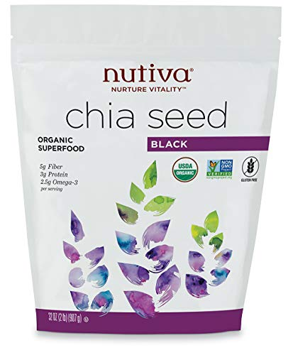 Nutiva Organic,  Premium Black Chia Seeds, 32-ounce (Best Time To Eat Chia Seeds For Weight Loss)