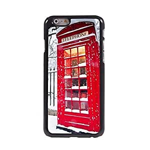 LZX Festival Telephone Booth Pattern Aluminum Hard Case for iPhone 6 Plus