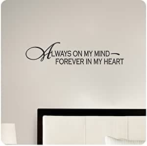 Amazon.com: Always on My Mind Forever in My Heart Wall ...