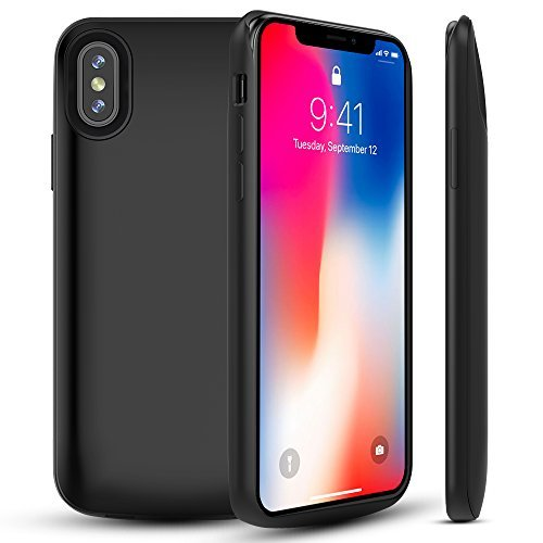 best service 809fa ac476 Capshi Phone X Battery Case, 3600mAh Slim External Battery Portable Charger  Case Protective Charging Case for iPhone X/10 Extended Battery ...