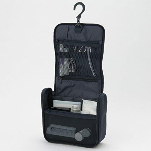 MUJI MoMa Polyester Hanging Toiletries Case, Navy-Blue - 16 x 19 x 6 cm