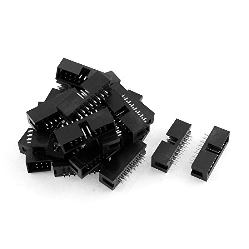 uxcell 24pcs 2x8 16-Pin Straight Box Header Connector IDC Male Sockets (16 Pin Connectors)