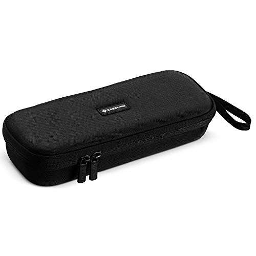 Caseling Hard Case Holder Fits Curling or Flat Iron Hair Straightener. Fits BaBylissPRO Nano Titanium-Plated Ultra-Thin Straightening Iron & more brands - With Mesh Pocket