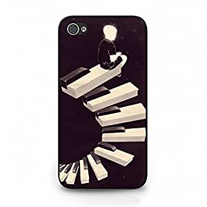 Unique Design Musical Instruments Piano Keys Phone Case Cover for Iphone 4 4s Piano Special