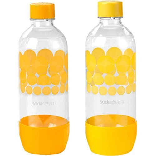 SodaStream 1L PET Carbonating Bottles (Twin Pack)-Orange/Yellow