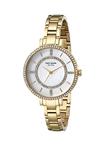 kate spade new york Women's 1YRU0692 Gramercy Gold-Tone Stainless Steel Watch with Link Bracelet