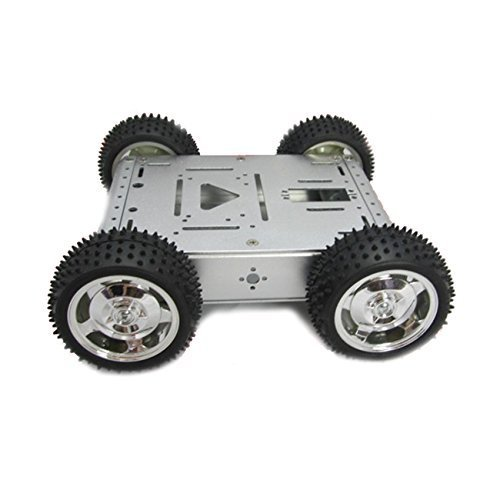 Robot Car UniHobby 4WD Robot Smart Car Chassis Kit Maximum Load 15KG Full Aluminum Alloy for Arduino Robot Projects