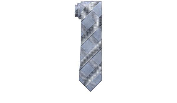 Calvin Klein Tonal Glenn - Corbata de cuadros para hombre - Azul ...