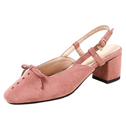Coolcept Slingback Pink Women Toe Pumps Square TBR1xwT6
