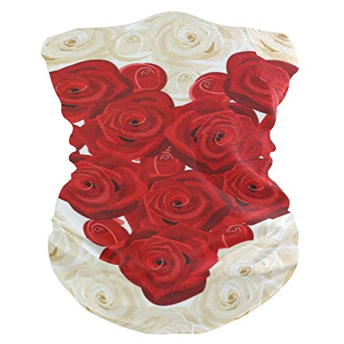 Valentines Day Heart Love You Floral Roses Wedding Outdoor Magic Headband Multifunctional Elastic Seamless BandanScarf UV Resistence Sport Headwear