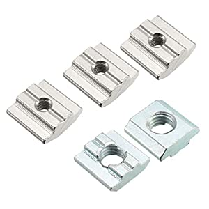 uxcell Slide in T-Nut for Aluminum Extrusions Profile 12 Pcs from uxcell