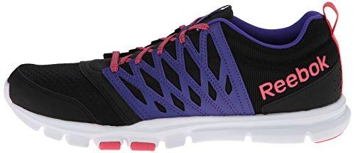 reebok yourflex womens. reebok women\u0027s yourflex trainette 5.0 l cross-training shoe,black/ultima purple/ womens 9