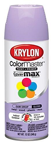 Krylon K05151307 ColorMaster Paint + Primer, Gloss, Gum Drop, 12 ()