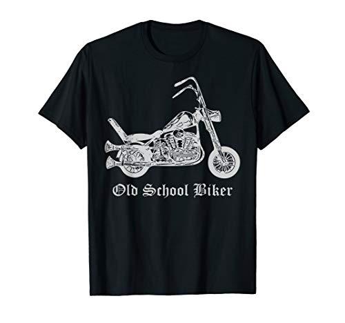 Old School Biker motorcycle T-Shirt for men and women - Old School Biker T-shirts